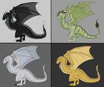 Earth Wyvern Adoptables - Batch 01 by Death-Tendency