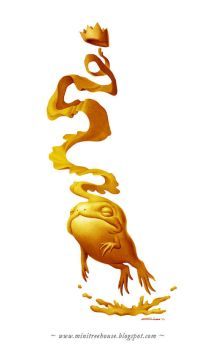 Golden Frog Prince by minitreehouse