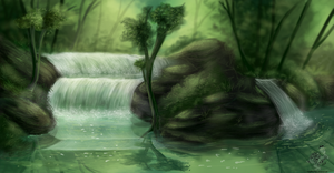 Waterfall Oh Waterfall by The-Hare