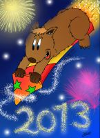 Wickley Wombat wishes you a happy 2013! by MagicalMerlinGirl