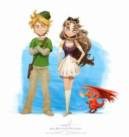 Link and Zelda by pardoart
