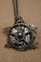 Steampunk Turtle Pendant by medievalfaery