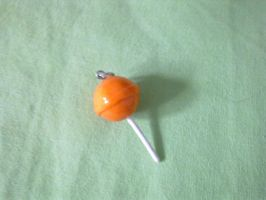 Polymer Clay lollipop charm by FullmetalDemigod