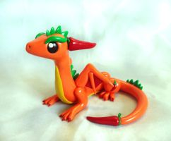 Chili Pepper Dragon by ByToothAndClaw