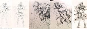 Sealiah drawing process by Feohria