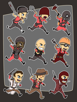 Chibi Fortress - Melee by forte-girl7