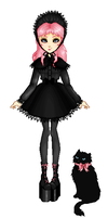 Gothic Lolita Pixel Doll by chocolatehomicide