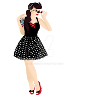Kitty Rockabilly by jesseniart