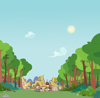 Outside Ponyville by BonesWolbach
