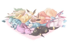 Eeveelutions 2014 by syunrii