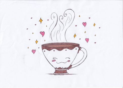 Draw your comments 7 : cup of tea by RoxasPikachu