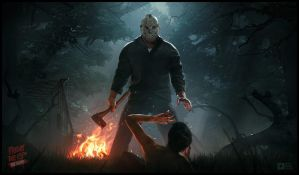 Friday The 13th: The Game Promo Art by WojciechFus