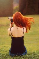 Me - photographing birds by Whimsical-Dreams