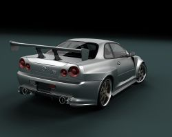 Nissan Skyline GTR Back by stefanmarius