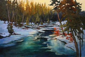 Icy Fenland Creek by artistwilder