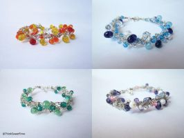 Bracelets in Wire Crochet by ThinkSweet
