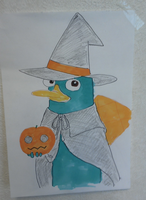 Happy Halloween with Perry by AgentC-mom