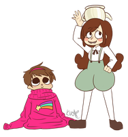 Clothes Swap: Greg + Mabel by black-feather1013