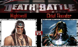 Nightwolf vs Chief Thunder by SonicPal