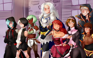 Commission for Rosenkruex: Group shot by Sogequeen2550