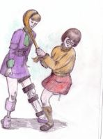 Daphne and Velma hop and play by londonjohn