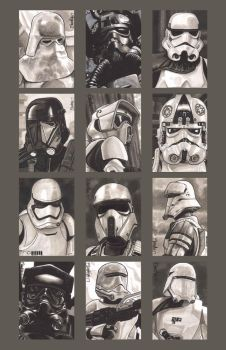 Sketchcards - Imperial Troops by artistjerrybennett