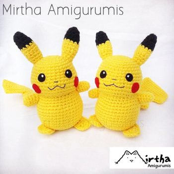 Amigurumi Pikachu by Mirtha Amigurumis by MirthaAmigurumis