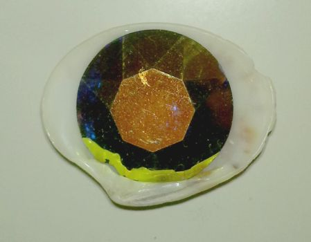 Seashell Magnet with a Fake Topaz by Electribird