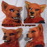 Red XIII version 2 - WIP by Beetlecat