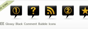 Glossy Black and Yellow Icons by IconsEtc