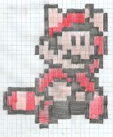 The plumber with the raccoon tail (8-bit) by artdragon1