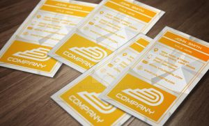 Golden Business Card Design by bry5012