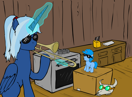 When momma isn't home by glue123