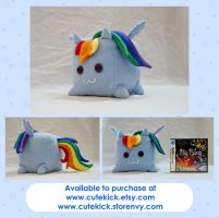 Rainbow Dash Companion Cube Pony by cutekick