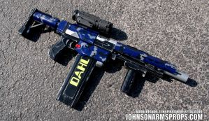 Custom Borderlands 2 DAHL Digi-Camo Nerf Prop by JohnsonArms