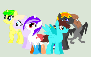{GIFT} Our Mane 6 by CassieSparkles