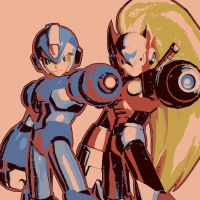 Mega Man X and Zero Pop Art by TheGreatDevin