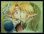 Sheik and Link by zilia-k