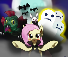 scare master flutteyshy :D ? by hoyeechun