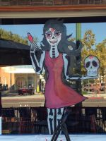Halloween Window Painting 2014 by RikoMixxyKitsune