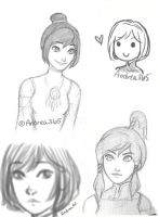 Korra sketches by Andrea365