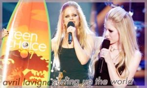 Avril surfing up the world by vams