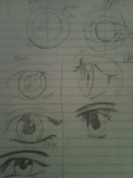 2011 Eyes Sketch by faust2152
