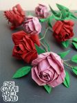 Red and Pink Roses by OrigamiAround