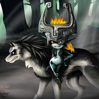 Link and Midna by BethanyFrye
