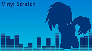 Vinyl Scratch LetterPress Wallpaper by alanfernandoflores01
