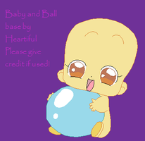 Baby With Ball Base by Heartiful