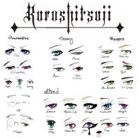 KUROSHITSUJI EYE CHART by Lily-Draws
