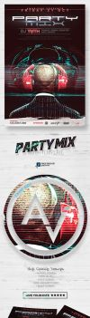 Party Mix Flyer Template by amorjesu