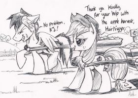 AppleJack and Hairtrigger ~ Request by NavigatorAlligator